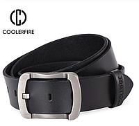 Кожаный мужской ремень Coolerfire HQ024 - Black