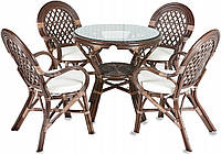 PAPIO садові меблі з ротангу на 4 персони