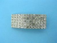 Пряжка металлическая с камнями