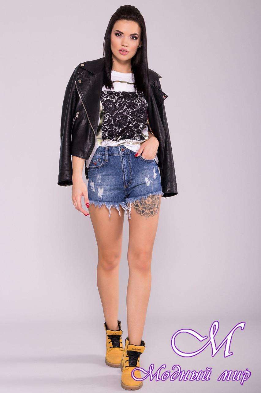 Стильный джинсовые шорты женские (р. 27, 28, 29) арт. 7037 - 42199