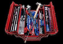 Ящик переносной с инструментом 132 предметы KING TONY 9A05-132CR (Тайвань)