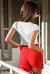 Женская белая футболка с принтом фламинго, фото 3