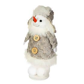 "Фигурка ""Снеговик в шапке серый"" (14*8 см), 014NM"