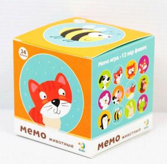 """Настольная игра DoDo Toys 300145 Мемо """"Животные"""""""