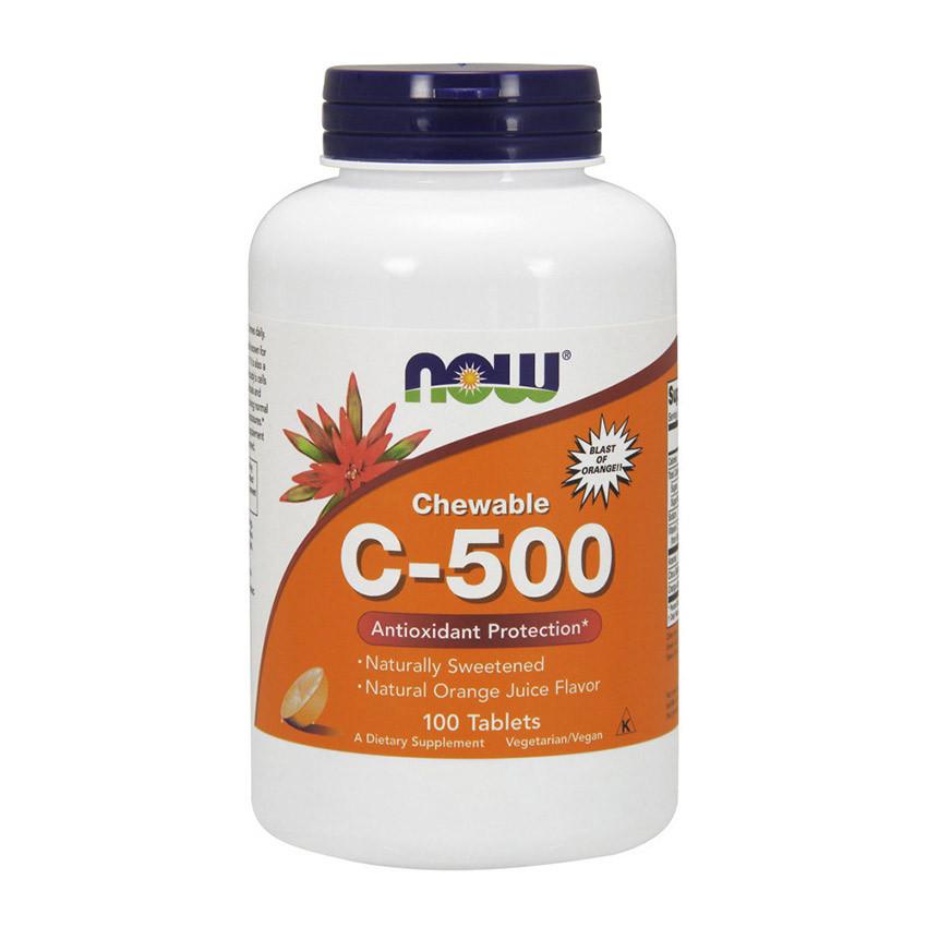 C-500 chewable (100 tab, orange) NOW