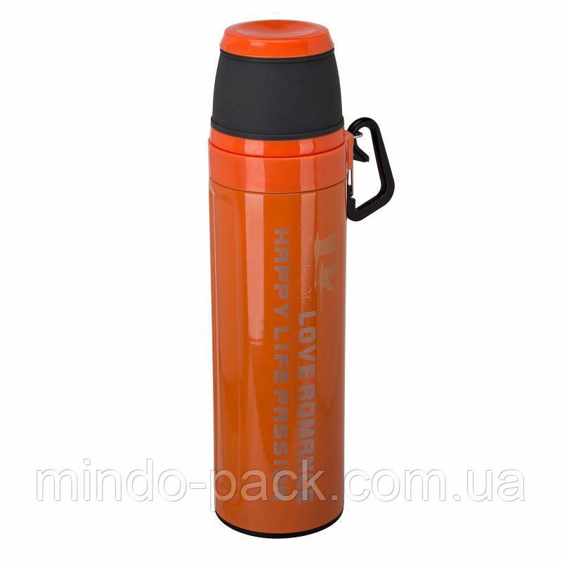 Термос Passion с карабином 550 мл. (Оранжевый)