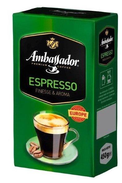 Кофе молотый Ambassador Espresso 450 г