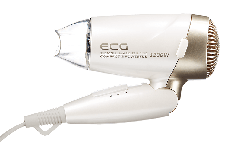 Фен ECG VV 1200 Travel G 1200 Вт Белый / Золотистый, фото 3
