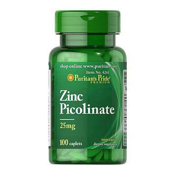 Zinc Picolinate 25 mg (100 caplets) Puritan's Pride