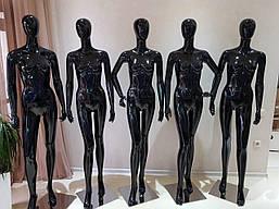 Манекен женский гипсовый (лаковый) черный