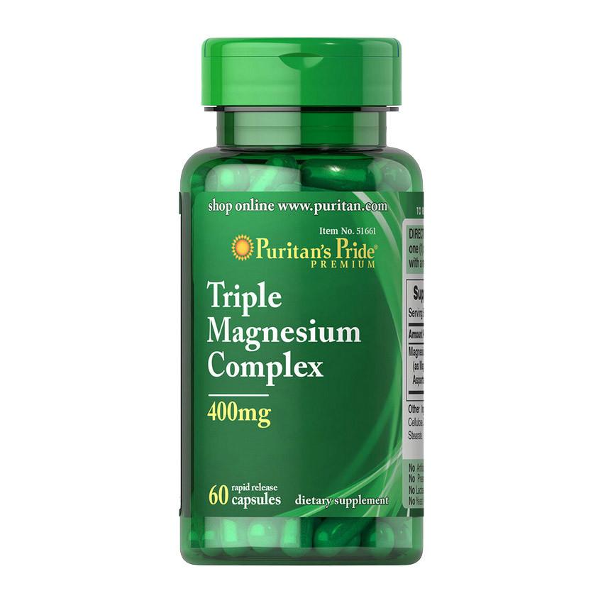 Triple Magnesium Complex 400 mg (60 caps) Puritan's Pride