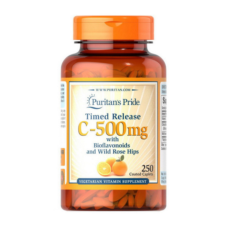 Vitamin C-500 mg with Bioflavonoids and Wild Rose Hips (250 caplets) Puritan's Pride