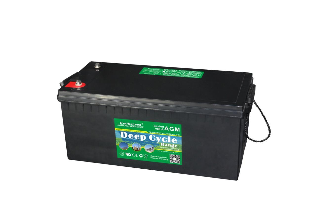 Аккумулятор AGM - 200 Ач, 12В гелевый EverExceed DP-12200