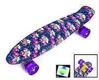 Детский скейт пениборд Penny Australia ОРХИДЕЯ, Светящиеся Колеса