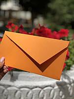 Евро конверт из крафт бумаги подарочный оранж