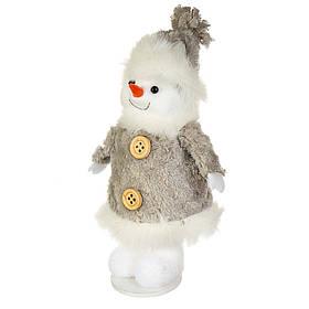 "Подвеска на ёлку ""Снеговик белый бумбон"" (15*8 см), 012NM"
