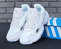Женские кроссовки Adidas Falcon White Suede