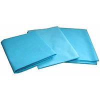 Одноразовые простыни в пачке Спанбонд Doily 25 г/м² 0,6x2 м 10 УП 200 ШТ Голубые