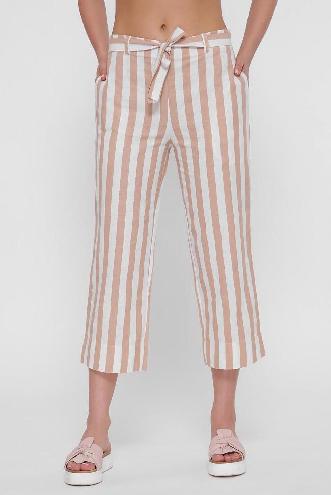 "Женские брюки в полоску ""Flax Culotte"""