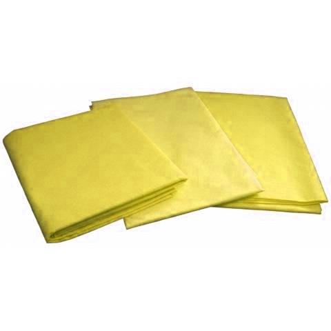 Одноразовые простыни в пачке Спанбонд Doily 25 г/м² 0,6x2 м 10 УП 500 ШТ Желтые