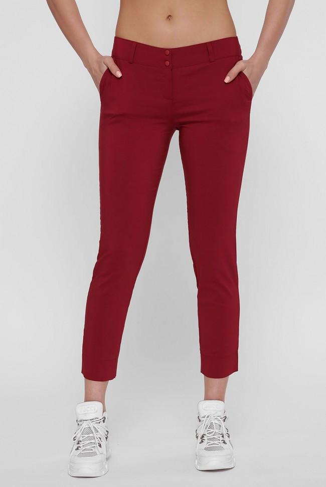 Женские бордовые брюки BENGAL