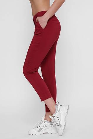 Женские бордовые брюки BENGAL, фото 2