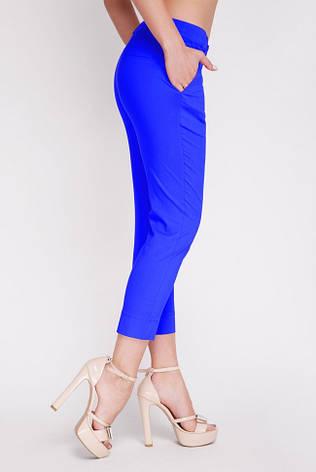 Летние женские брюки батал  BENGAL-BATAL цвет электрик, фото 2