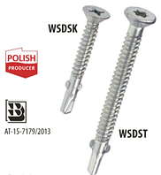 Саморез-флюгель для крепления дерева к металлу WSDST 6.3х50 мм. Wkret-Met 250 шт