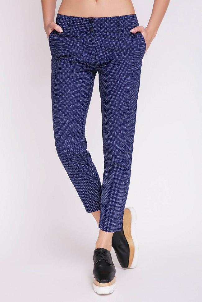 Короткие женские синие брюки