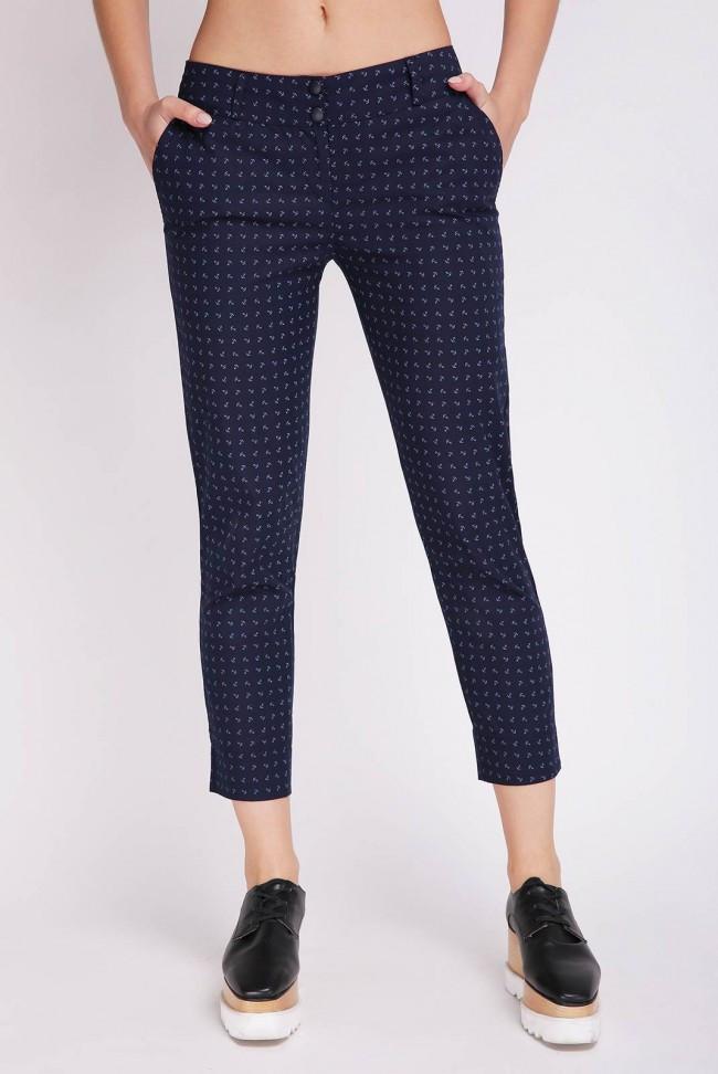 Женские короткие брюки темно-синие