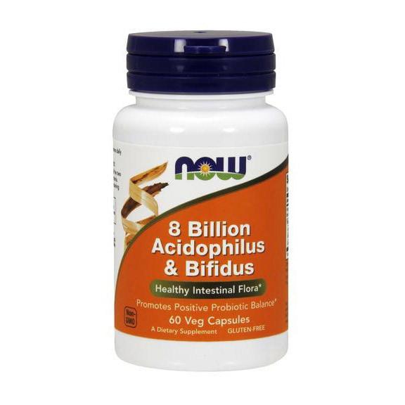Пробиотик (ацидофильных и бифидобактерий) Нау Фудс / Now Foods 8 Billion Acidophilus & Bifidus 60 капсул