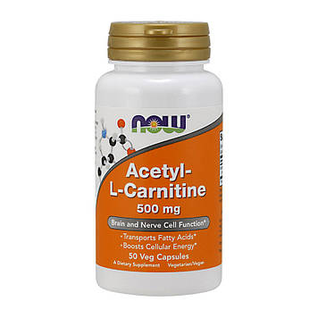 Acetyl-L-Carnitine 500 mg (50 veg caps) NOW