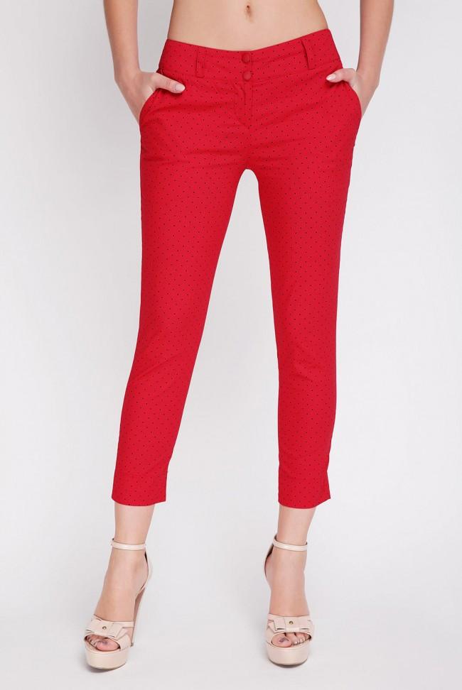 Красные женские брюки большого размера летние SUMMER-BATAL 52 56 52 56