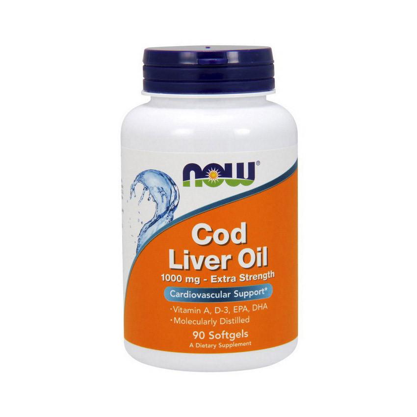 Масло печени трески Now Foods Cod Liver Oil 1000 mg (90 softgels)
