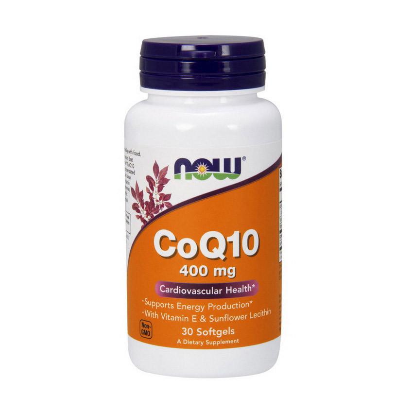 Коэнзим Q10 (Кофермент Q10) Now Foods CoQ10 400 mg (30 softgels)