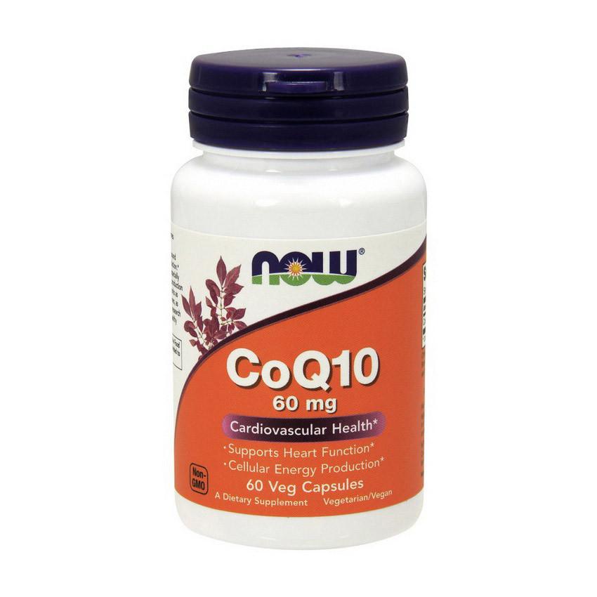 Коэнзим Q10 (Кофермент Q10) Now Foods CoQ10 60 mg (60 vcaps)