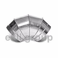Відведення 45 ° з нержавіючої сталі 1мм , діаметр 180 мм