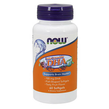 Kids Chewable DHA (60 softgels) NOW