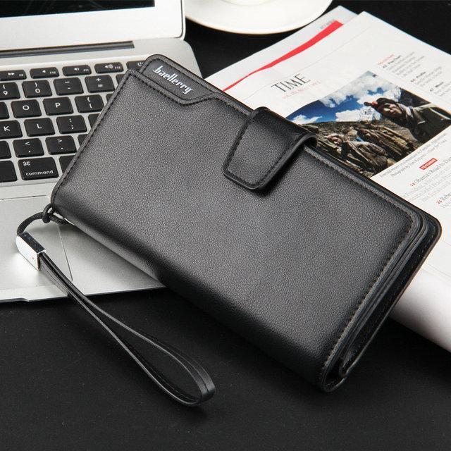 Мужской кошелек клатч портмоне Baellerry черный