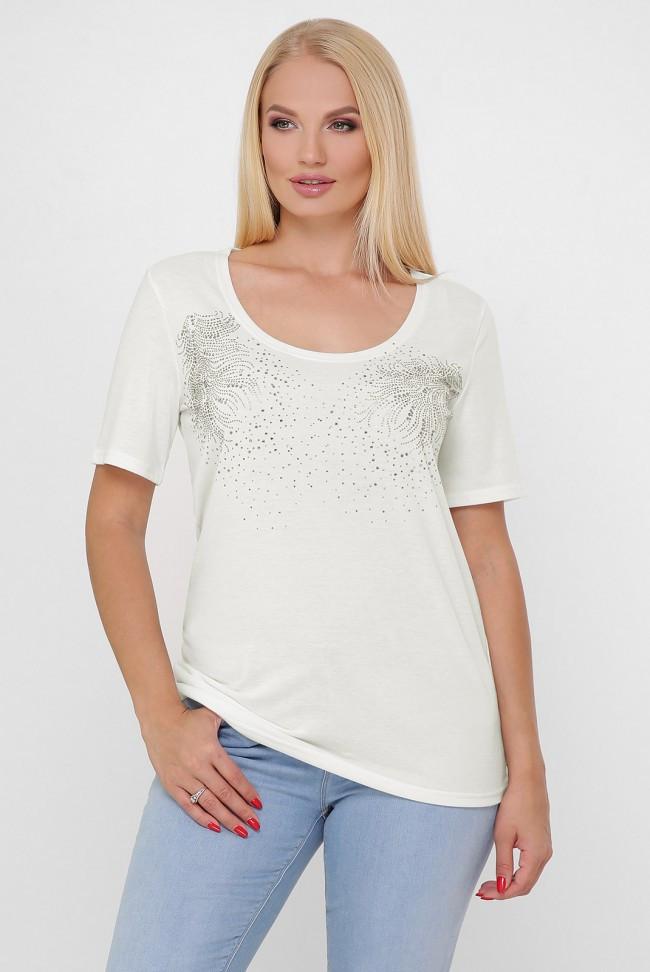 """Светлая женская футболка """"Bristol 2"""" большие размеры"""