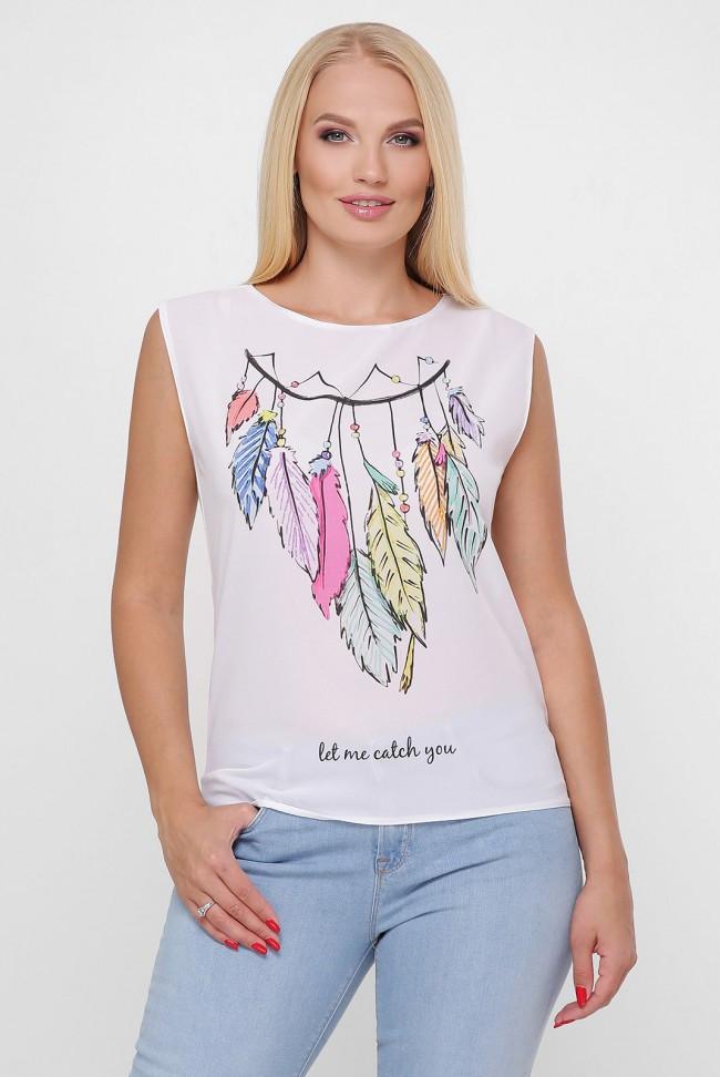"""Жіноча біла футболка з принтом Ловець снів """"Classic"""""""