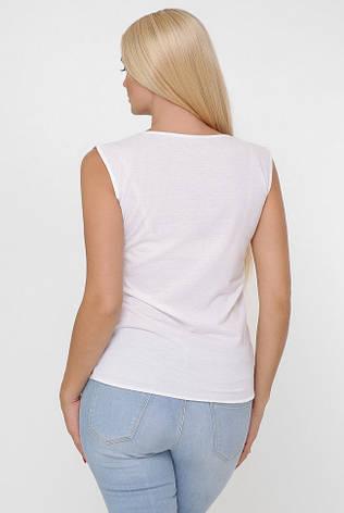 """Женская белая футболка с коротким рукавом """"Classic"""" принт, фото 2"""