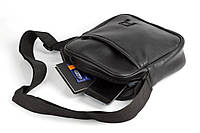Мужская кожаная PU сумка через плечо месенджер R размер XL