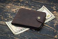 Зажим для денег кожаный mod.Porter brown, фото 1