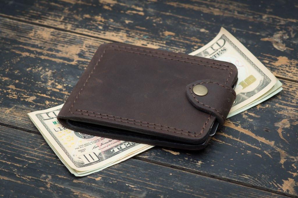 Зажим для денег кожаный mod.Porter brown