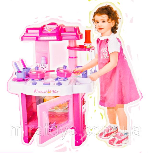 ✅Дитяча іграшкова кухня 008-26, плита, духовка, мийка, посуд, 60-45-28 см