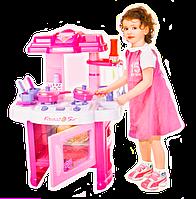 ✅Детская игрушечная кухня 008-26, плита, духовка, мойка, посуда, 60-45-28 см