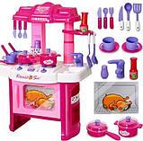 ✅Дитяча іграшкова кухня 008-26, плита, духовка, мийка, посуд, 60-45-28 см, фото 4