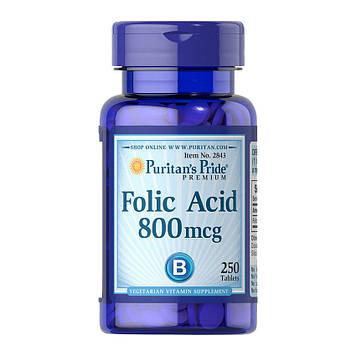 Фолиевая кислота Folic Acid 800 mcg (250 tablet) Puritan's Pride