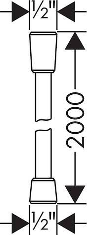 Isiflex``B Шланг душевой 2,00 м, фото 2